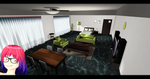 [MMD] Bedroom with Living Room DL ~ by o-DeadSilverVirus-o