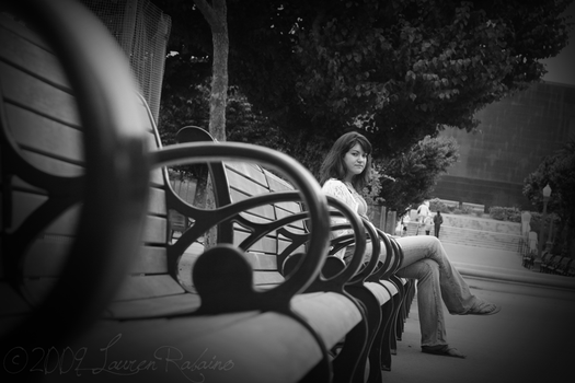 djb on a bench in SF by qwe645rty282