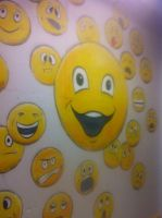 smily wall by cyancrap