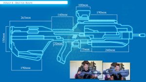 Halo 4 : Battle Rifle Blue Prints , by DFT by CpCody