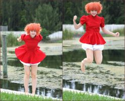 Ponyo: Jump! by thecreatorscreations