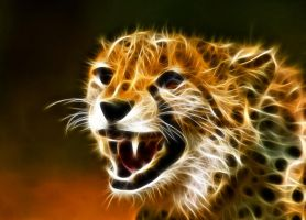 Fractal Cheetah 1 by artofpain
