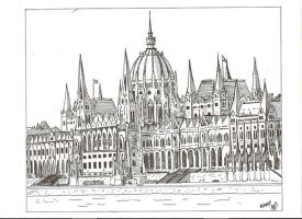 The Hungarian Parliament by megalobo