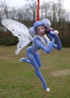 Winter Ladybug Fairy Ornament by MysticReflections