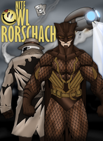 Nite Owl and Rorschach by HunterSnake11