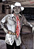 Stevie Ray Vaughan Portrait by ZuzanaGyarfasova