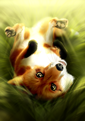Caught in the grass by Martith
