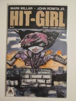 Hit Girl Blank Painted Comic Book Cover by kettleart