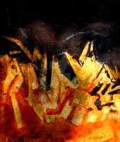 ABSTRACT-5,OIL ON CANVAS by swaroop1947
