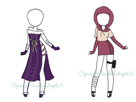 Naruto Outfit Adopts 9 (CLOSED) by SpringPeachAdopts