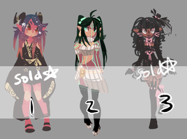 ADOPTABLES: Set 15 CLOSED by arcevaus