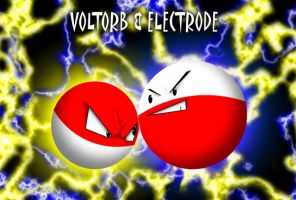 Voltorb and Electrode by QueensinRucks68