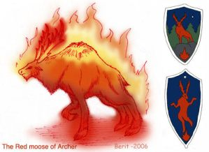 the Red moose of Archer