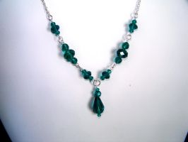 Teal Single Drop necklace by ComparativeRarity