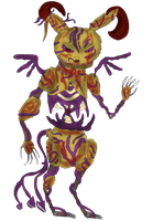 Springtrap in demonic form without background by FireEmber345