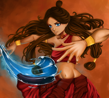 Fire Nation Katara by PencilPaperPassion