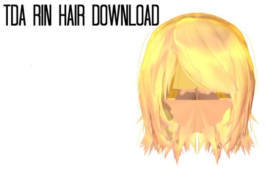 [MMD] Hair Download 3 ||TDA Rin Hair Download by LenKagamine363