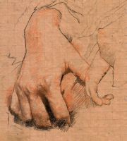Hands Study for Painting by SILENTJUSTICE