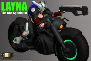 Layna's Bike Model, Work in Progress by cg-sammu