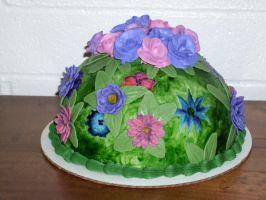 Flower garden cake by Trishap