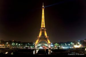 Lady Eiffel illuminates Paris by Gallynette