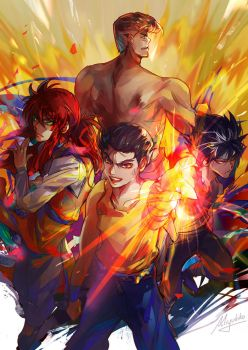 Yu Yu Hakusho - Team Urameshi by Miyukiko
