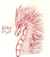 Alster the Dragon by FuneralDyingheart