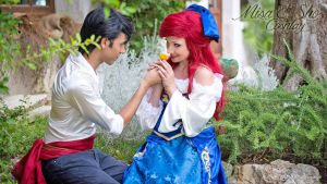 Ariel and Eric (Blue Dress) by FrancescaMisa