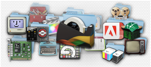 17 Custom Mac OSX App Folders by KarbonKidd