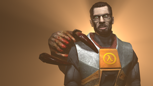 Freeman and the Headcrab by ZeFlyingMuppet