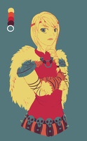 Colour palette challenge:HTTYD 2-Astrid by Juvia-himesama