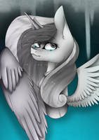 Princess Cadence ~ When she is broken [ BW ] by JemmieJ18
