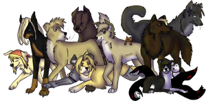 FMA dogs - Collab by Squishy-Pirate-Mutt