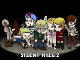 Silent Hill 2 SD collage by Kencho