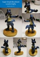 Brawl Trophies: Lucario by papersculptor
