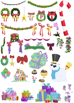 Hearth's Warming Eve Accessories by SelenaEde