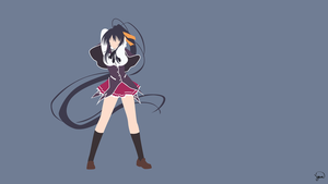 Akeno Himejima (High School DxD) Minimalism by greenmapple17