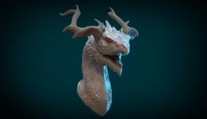 DragonBust sculpt2 by Skylarc88