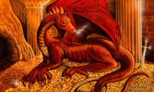 Smaug from The Hobbit by ChuckRondeau