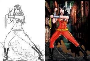 Donna Troy_in Tokyo. by Troianocomics