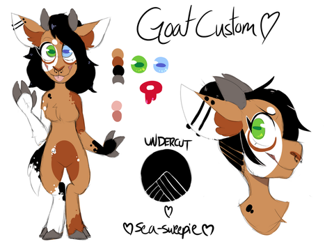 Goat Custom (Commission) by sea-sweepie