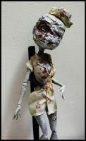 SOLD: OOAK MH SILENT HILL Nurse Frankie Stein by mourningwake-press