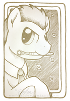 ACEO: MLP Doctor Whooves I by Emfen