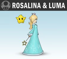 SSB4 - Rosalina and Luma by Antonator