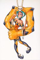 Copic Marker Skullgirls Cerebella by LemiaCrescent