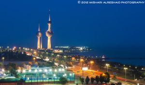 Kuwait Towers - Blue Hour by GTMQ8