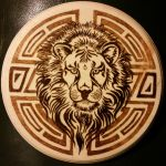 Woodburning - 10000 Page View Winner - Tribal Leo by Stepher17