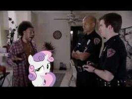 Dufrane And Sweetie Belle Meet The Cops by RicRobinCagnaan
