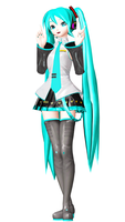 DT PS3 Default miku (new attemp to normal map.) by Mil-O