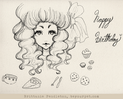 Happy Birthday Poppet - Uncolored by beyourpet